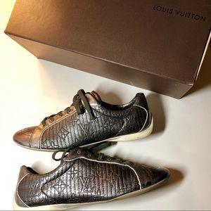 Louis Vuitton Shoes - Louis Vuitton Monogram Sneakers Shoes 8.5 Silver